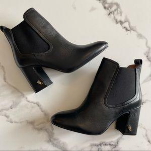NEW Kurt Geiger Raylan Leather Block Heel Booties